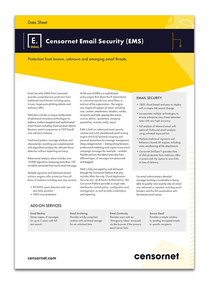 Censornet-Email-Security EMS Data Sheet Online