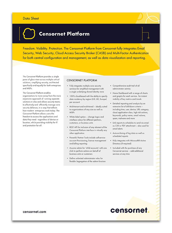 Censornet Platform Data Sheet