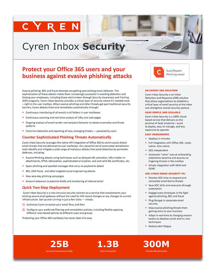 Datasheet InboxSecurity