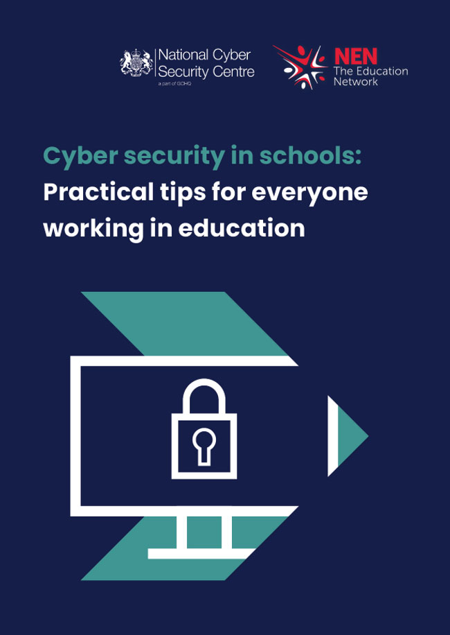 Downloadable copies of cyber security information cards for schools